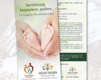 Kooperations-Flyer für besondere Babys